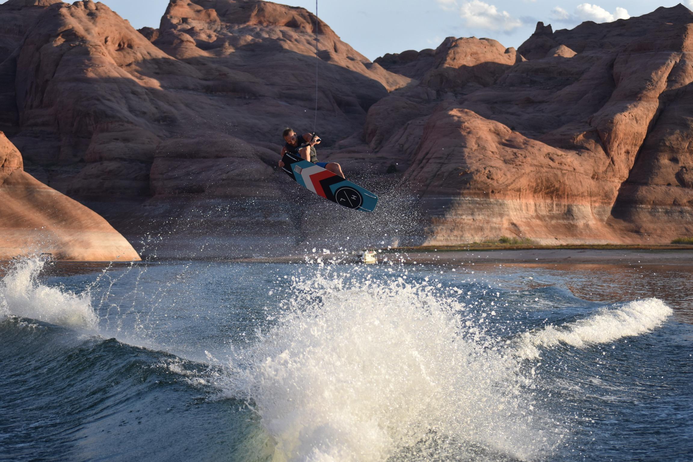 wakeboarding lake powell